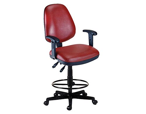 Stools Drafting 27 (Antimicrobial Vinyl Drafting Stool with Adjustable Arms Dimensions: 25