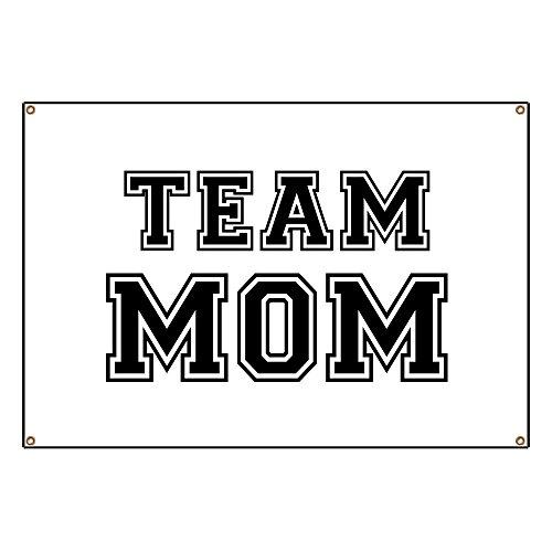 CafePress Team Mom - Vinyl Banner, 44''x30'' Hanging Sign, Indoor/Outdoor by CafePress (Image #1)