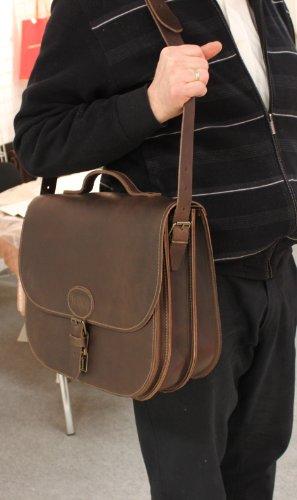 Thielemann by LEFOX , Sac pour homme à porter à l'épaule Marron tabak B38 x H27 x T7,5/7,5/4 cm