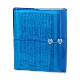 Wholesale CASE of 25 - Smead Heavy-duty Polypropylene Envelopes-Translucent Envelopes,Side Load,Letter,5/PK,Blue