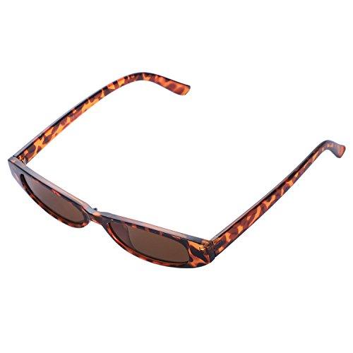 Gafas sol de Mujeres de Gafas antiguas Leopard sol ovaladas TOOGOO pequenas de Leopardo vintage UV400 Gafas lujo ojo de de gato de Gafas nuevas sol 4nnRxp