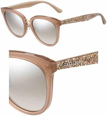 66b8eb637f Sunglasses Jimmy Choo Cade/F/S 0KDZ Nud Glitternud/NQ brown mirror gradient