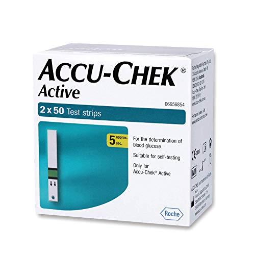 Accu-Chek Active 100 Strips, (50×2) (Multicolor)