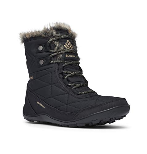 Columbia Women's Minx Shorty III Ankle Boot, Black, Pebble, 8 Regular US