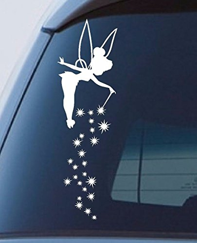 Titans unique design Tinkerbell Fairy Dust Window Sticker Stars Car Decal Cute 300Mm