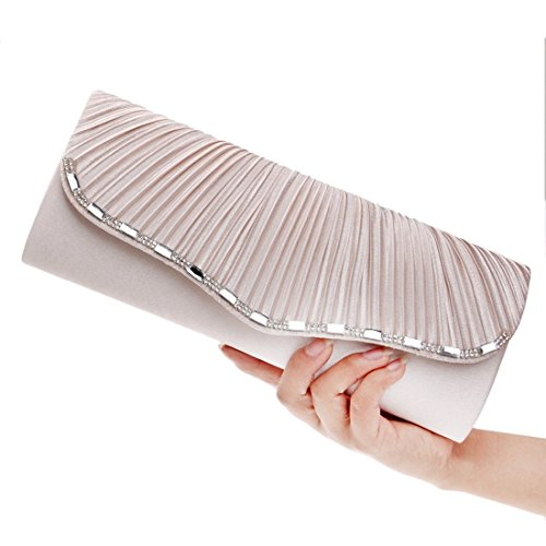 Luxury Pleated KERVINFENDRIYUN Color Diagonal Socialite White Red Bride Shoulder Clutch One Bag Purse Women's Evening HEHnrTS