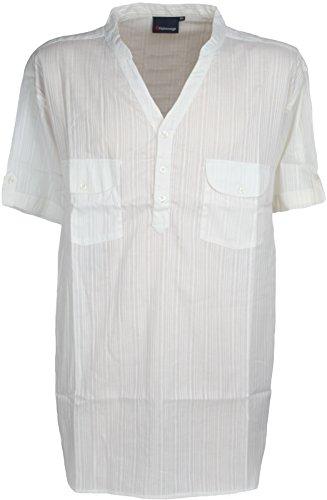 Der weiß kurzärmligen Y Hals Shirt sh068