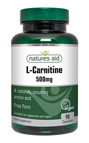 Natures Aid 500mg L-Carnitine Capsules - Pack of 90