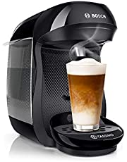 Bosch TAS1002 Tassimo Happy capsulemachine (meer dan 70 dranken, volautomatisch, geschikt voor alle kopjes, eenvoudige bereiding, 1.400 watt) zwart