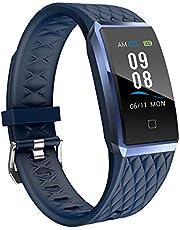 YAMAY Fitness Armband mit Pulsmesser,Wasserdicht IP67 Fitness Trackers mit Herzfrequenz Farbbildschirm Aktivitätstracker Pulsuhren Smartwatch Schrittzähler für Damen Herren für iPhone Android Handy