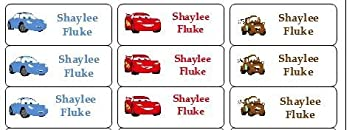 fc9e9537b828 30 Personalized Waterproof Name Labels Disney Cars Labels Car Name Labels  Personalized Name Labels...
