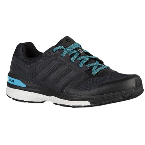 (adidas Running Women's Supernova Sequence Boost 8 Black/Black/Cyan Athletic Shoe)