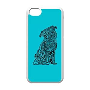 iPhone 5c Cell Phone Case White Polynesian Pug Oafvk
