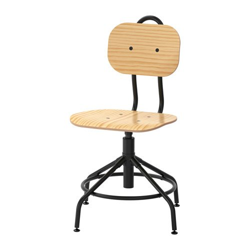 Ikea Swivel chair, pine, black 428.8211.186 (Pine Office Chair)