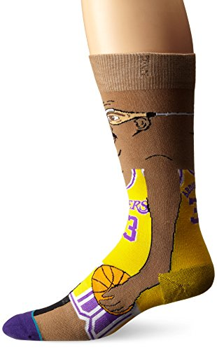 Stance Men's NBA Legends Crew Socks, Kareem, Large/Shoe Size 9-12 from Stance