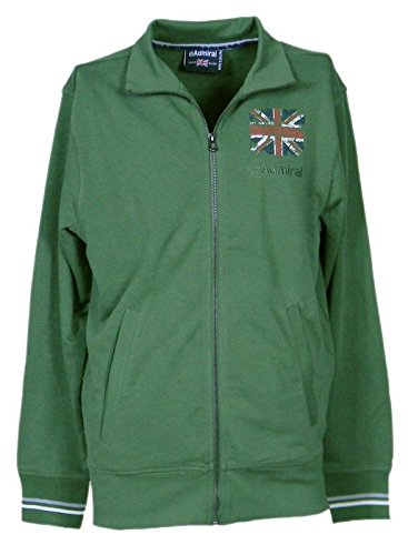 Admiral Felpa Uomo (Men s hooded sweatshirt) French Terry Verde (Green 011) c80d58dba74