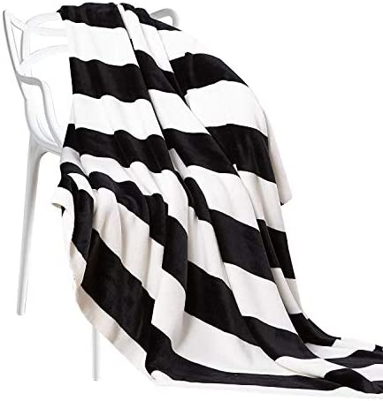 NTBAY Flannel Throw Blankets Stripe product image