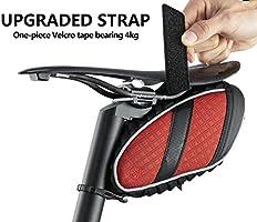 ROCKBROS Bolsa de Sillín de Bicicleta Alforjas Asiento Trasero Impermeable con Soporte para Luz Trasera para MTB Bici de Carretera Bici Plegable: Amazon.es: Deportes y aire libre