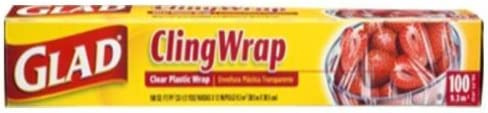 Glad Cling Wrap Clear Plastic Wrap 100 Sq Ft Pack of 4 9.2 M
