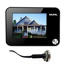 BAIMIL Black 3.5 Inch LCD Display Security Digital Camera Video Door Peephole Viewer Support TF Card