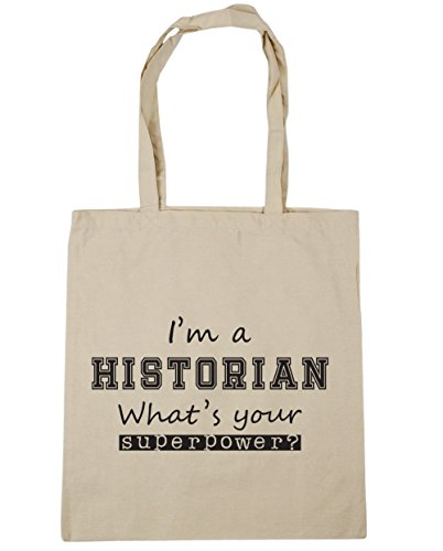 Gym litres I'm 42cm Shopping Historian A Natural Bag x38cm Superpower 10 Tote What's Your Beach HippoWarehouse BC8TUqw8
