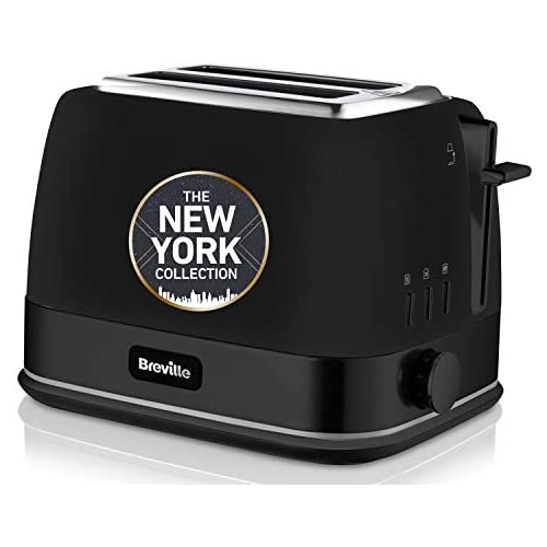 chollos oferta descuentos barato Breville VTT946X Tostador de 2 rebanadas con bandeja para calentar bollería colección New York color negro