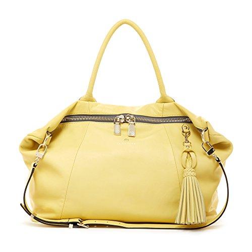 'Saratoga' Large Yellow Satchel Handbag by Trina ()