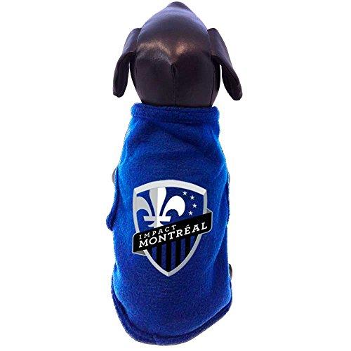 MLS Montreal Impact Sleeveless Polar Fleece Dog Shirt, X-Small, Royal ()