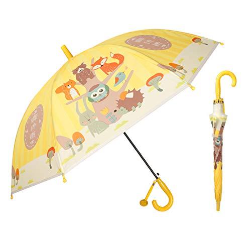 87cf1fda9842 iMucci Kids Animal Cartoon Umbrella 3D Animal Pop Up Printed Umbrella Sun  and Rain Printed Umbrellas with Windproof, UV Protection(Hedgehog)