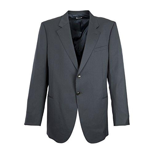 Giorgio Armani Men's Navy Blue Two Button Wool Blazer IT 50L Navy Blue (Giorgio Armani Men Clothing)