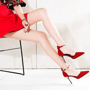 LvYuan Mujer-Tacón Stiletto-Otro-Sandalias-Oficina y Trabajo Vestido Fiesta y Noche-Ante-Negro Rojo Red