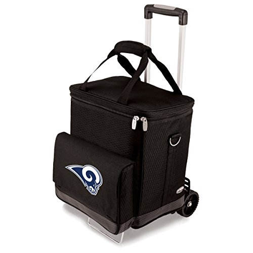 NFL LA Rams Digital Print Cellar with Trolley, One Size, Black by PICNIC TIME