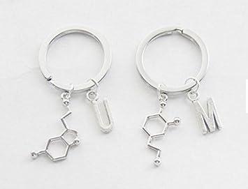 Mejor amigo Llavero Set molécula llavero 2 ciencia Llavero ...