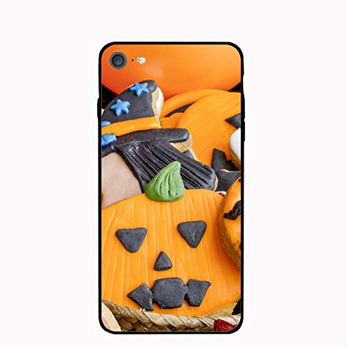 Phone 7 Case, Holiday Halloween Biscuit Scratch Resistant Hard Back Cover Shock Absorbent Case for Apple Phone 7/8 4.7 inch -