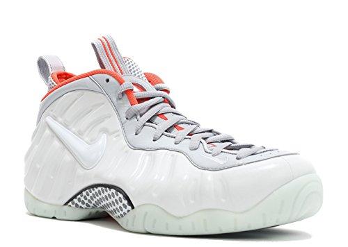 Nike Mens Air Foamposite Pro PRM, Pure Platinum / Pure Platinum - Wolf Grey - Bright, 12 M US