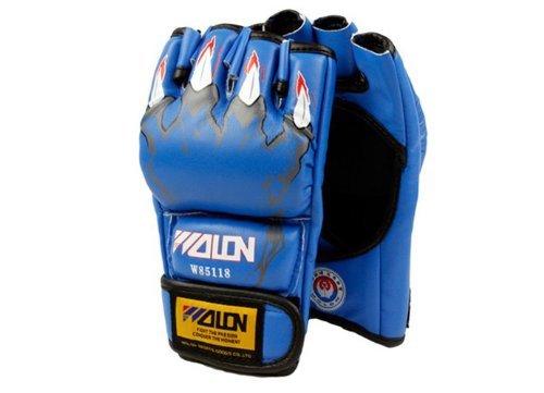 Tigerboss Solid Boxing Gloves Half Finger MMA Combat Gloves UFC Sanda Gloves Gym Professional Lightweight Protective Gloves Sports Gloves Leather Gloves.