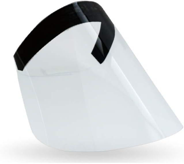 Pantalla protectora de pl/ástico para catering Revestimiento facial para boca y nariz con sonrisa 7PC reutilizable lavable c/ómodo transparente antivaho visera para adultos