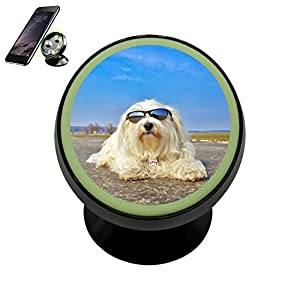Cool Havanese Magnetic Phone Car Mount Holder 360 Rotation Car Phone Holder With Luminous Function