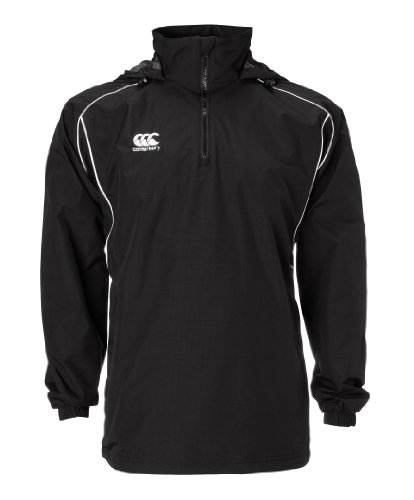 Canterbury Classic 1/4 Zip Rain Jacket, Black, (Canterbury Womens Rugby)