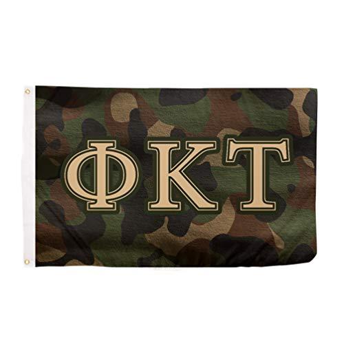 Phi Kappa Tau Camo Letter Fraternity Flag Banner 3 x 5 Sign Decor Phi ()