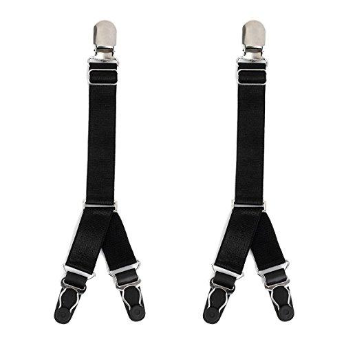 UEETEK 1 Paar Verstelbare Vrouwen Stocking Garter Riem Y stijl Nylon Sock Panty Houder Zwart