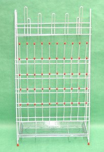 SEOH Drying Laboratory Rack Metal 55 Pegs and Drain Pan