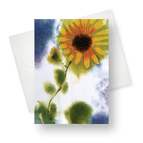 - (12 Pack) Sunflower All Occasion Greeting Card - Premium Quality with Unique Designs - for Boys, Girls, Men, Women, and Adults - 5.5