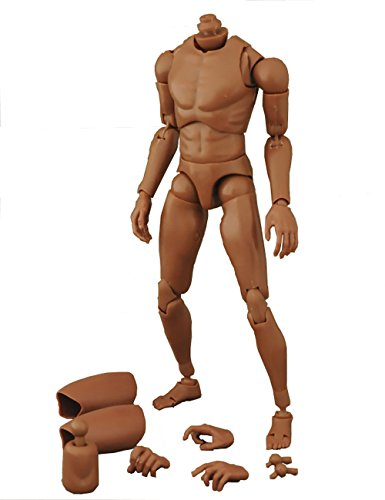 ZYAQ 1/6 Scale Wide Shoulder Action Figure African American Male Muscular Body Toys Doll for TTM18 TTM19 Hot Toys