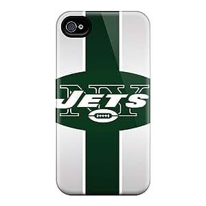 AnnaDubois Iphone 4/4s Perfect Hard Cell-phone Cases Customized Stylish New York Jets Image [dMV11546LqMb]