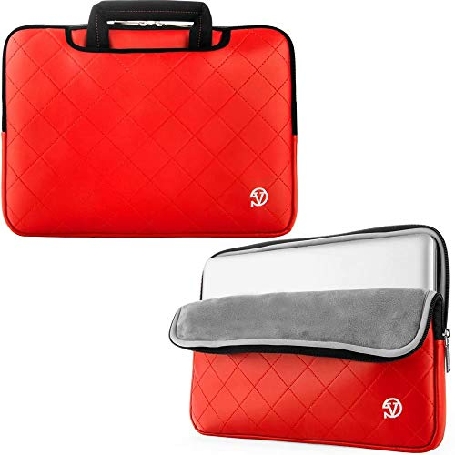 15.6 inch Laptop PU Leather Sleeve Bag Case Briefcase Fit Lenovo ThinkPad L580 / E590 / E580 / E585 / X1 Extreme / T580 / P1 Mobile Workstation / P52 / P52s, Red