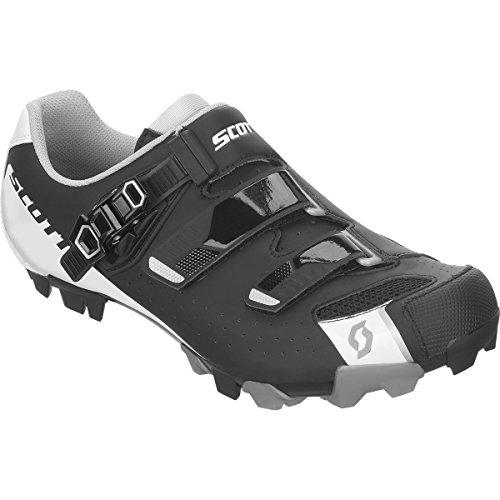 不均一謝罪する不透明なスコット?MTB Pro Shoe – Men 'sマットブラック/グロスホワイト、40.0