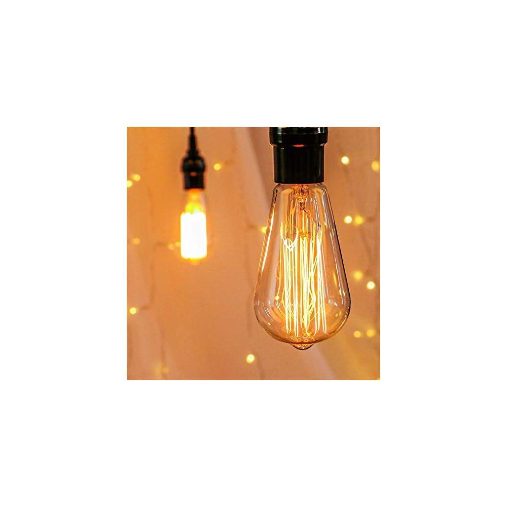 Edison Light Bulbs, 6Pcs Vintage 60 Watt Incandescent Light Bulbs E26 Base Dimmable Decorative Antique Filament Light…