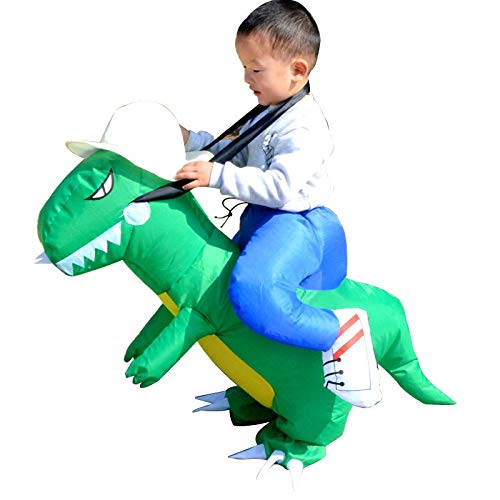 Horror Halloween - 2019 Kids Adult Inflatable Funny Cute Cartoon Dinosaur Rider Festival Halloween Dress Party Costume - Decorations Party Party Decorations Halloween Prop Teeth Skull Decor -