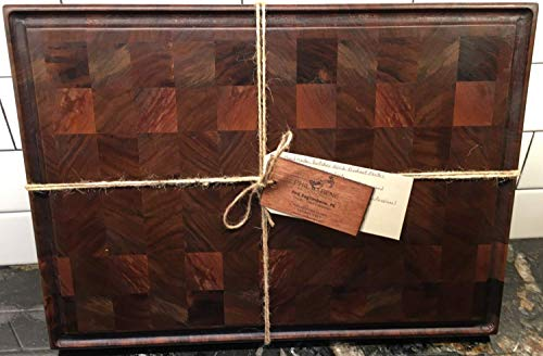 (Handmade Walnut End Grain Butcher Block (LARGE))